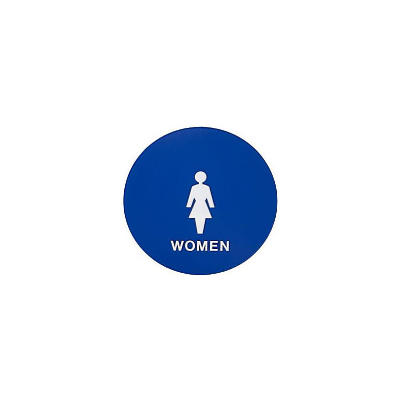 ... Womens Bathroom Sign Blue Finish. Images may not represent actual product and finish