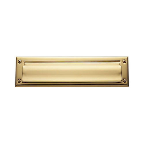 Baldwin 0012003 Letter Box Plate Lifetime Brass Finish