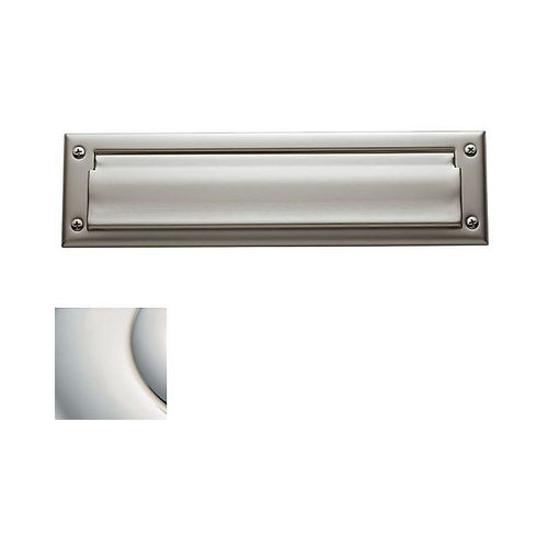 Baldwin 0012055 Letter Box Plate Lifetime Bright Nickel Finish