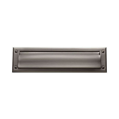 Baldwin 0012151 Letter Box Plate Antique Nickel Finish
