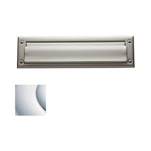 Baldwin 0012260 Letter Box Plate Bright Chrome Finish