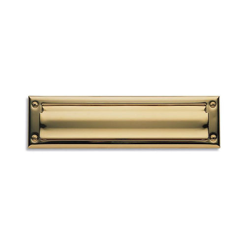 Baldwin 0014003 Letter Box Plate Lifetime Brass Finish
