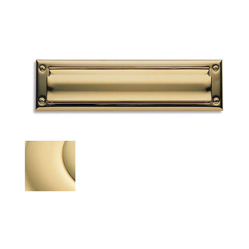 Baldwin 0014031 Letter Box Plate Unlacquered Brass Finish