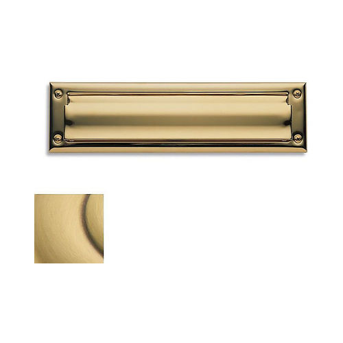 Baldwin 0014060 Letter Box Plate Satin Brass with Brown Finish