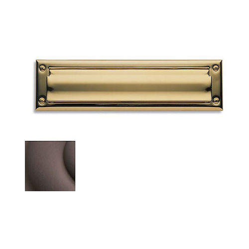 Baldwin 0014112 Letter Box Plate Venetian Bronze Finish