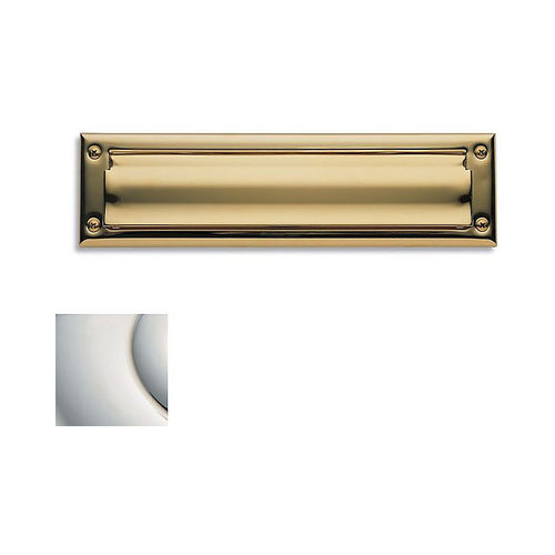 Baldwin 0014140 Letter Box Plate Bright Nickel Finish