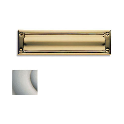 Baldwin 0014150 Letter Box Plate Satin Nickel Finish