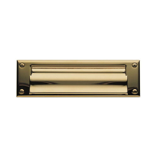 Baldwin 0015003 Letter Box Plate Lifetime Brass Finish