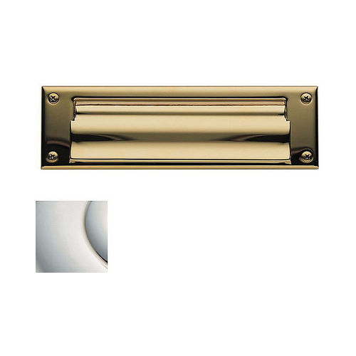 Baldwin 0015055 Letter Box Plate Lifetime Bright Nickel Finish