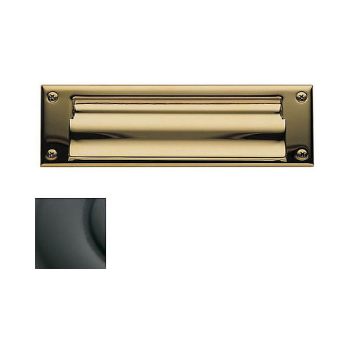 Baldwin 0015102 Letter Box Plate Oil Rubbed Bronze Finish