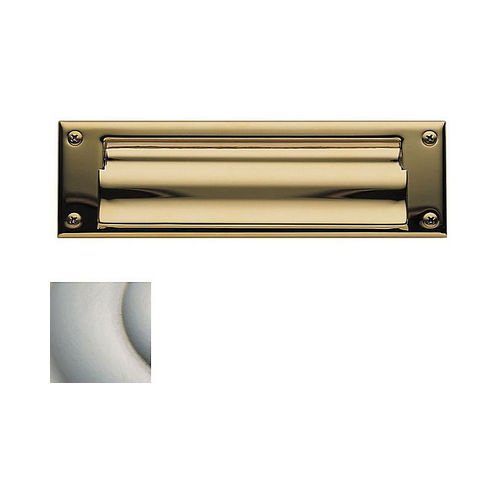 Baldwin 0015150 Letter Box Plate Satin Nickel Finish