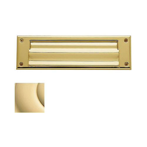 Baldwin 0017031 Letter Box Plate Unlacquered Brass Finish