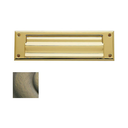 Baldwin 0017050 Letter Box Plate Antique Brass Finish
