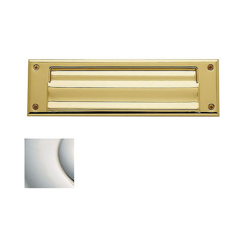 Baldwin 0017055 Letter Box Plate Lifetime Bright Nickel Finish