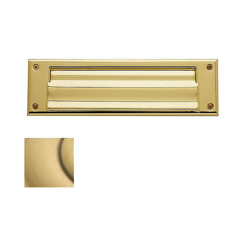 Baldwin 0017060 Letter Box Plate Satin Brass with Brown Finish