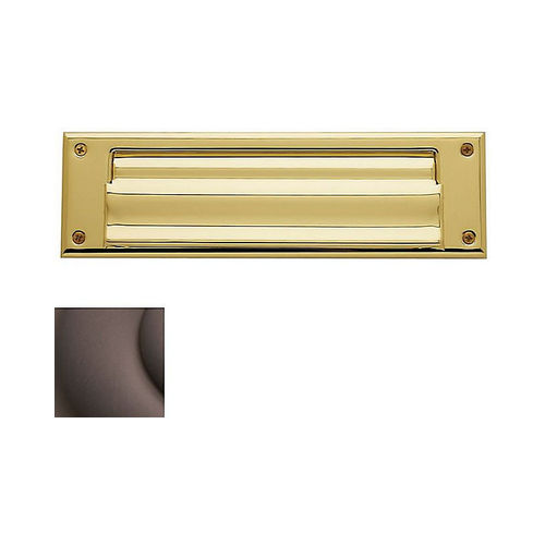Baldwin 0017112 Letter Box Plate Venetian Bronze Finish