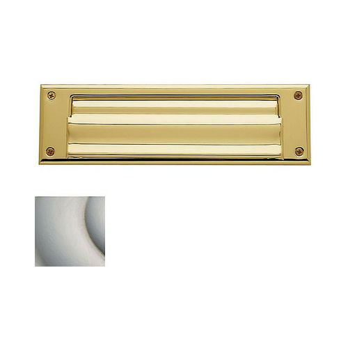 Baldwin 0017150 Letter Box Plate Satin Nickel Finish