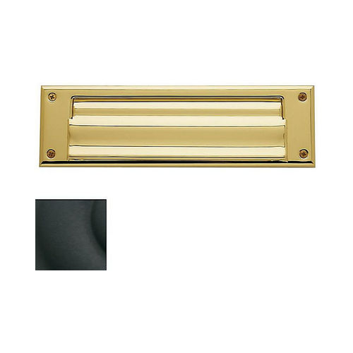 Baldwin 0017190 Letter Box Plate Satin Black Finish