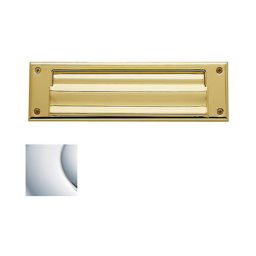 Baldwin 0017260 Letter Box Plate Bright Chrome Finish