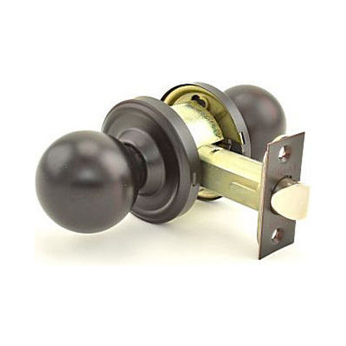 Weslock 00411D1D1SL20 Barrington Privacy Lock with Adjustable Latch and Full Lip Strike Oil Rubbed Bronze Finish