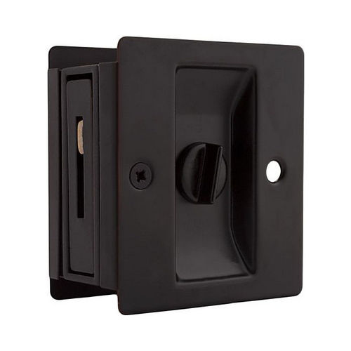 Weslock 00577X1X1 Rectangular Privacy Pocket Door Lock with Adjustable Backset and Full Lip Strike Oil Rubbed Bronze Finish