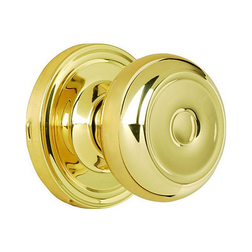 Weslock 00600Z3Z3SL20 Savannah Passage Lock with Adjustable Latch and Full Lip Strike Bright Brass Finish
