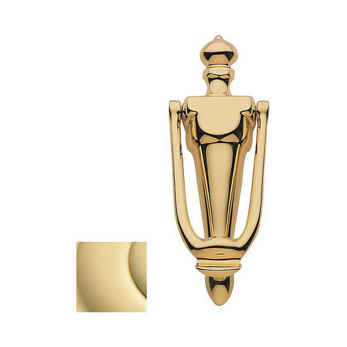 Baldwin 0106030 French Door Knocker Bright Brass Finish