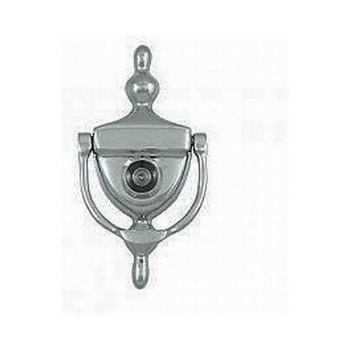Ives Residential 0231252U626 Solid Brass Door Knocker with U700 UL Viewer Satin Chrome Finish