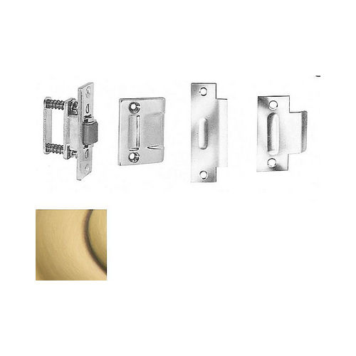 Baldwin 0430060 Roller Latch With Full Lip Strike Satin Brass With Brown Finish