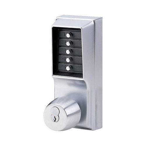 Dormakaba 1041S26D Mechanical Pushbutton Knob Lock Combination Passage with Key Override 2-3/4