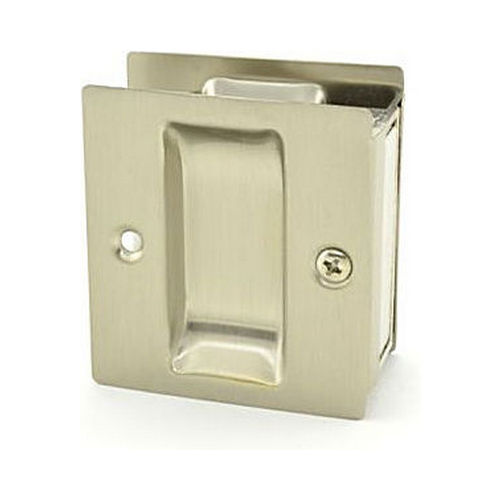 Trimco 1064619 Passage Pocket Door Lock Square Cutout Satin Nickel Finish