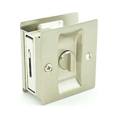 Trimco 1065619 Privacy Pocket Door Lock Square Cutout for 1-3/8
