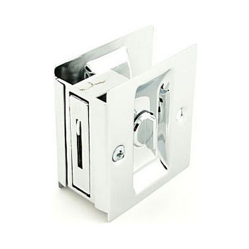 Trimco 1065625 Privacy Pocket Door Lock Square Cutout for 1-3/8