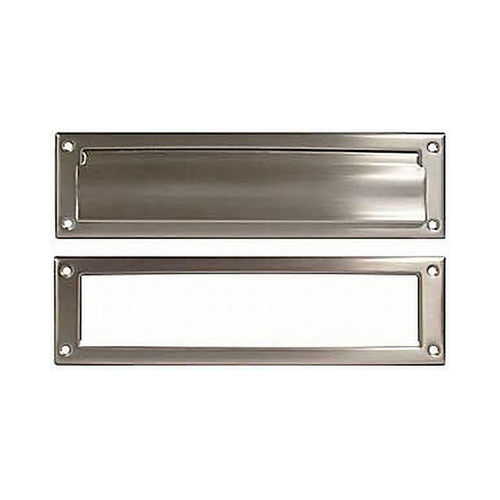 Ives Residential 620B15 Solid Brass Magazine Mail Slot with Spring Loaded Front and Open Back Satin Nickel Finish