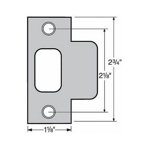 Kwikset 83028-3 T Strike Bright Brass Finish