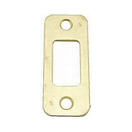 Schlage Residential 10116605 Round Corner Deadbolt Strike Bright Brass Finish