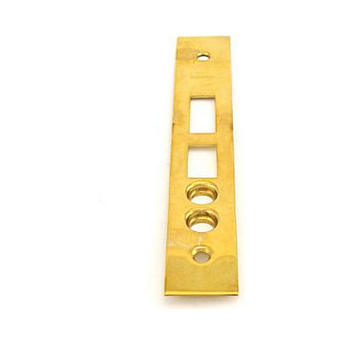 Baldwin 68000310004 Latch, Deadbolt, & Stops Armor Front Unlacquered Brass Finish