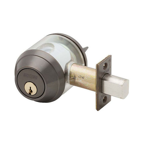 Schlage Commercial B660613 Grade 1 Single Cylinder Deadbolt C Keyway with 12297 Latch and 10094 Strike Oil Rubbed Bronze Finish