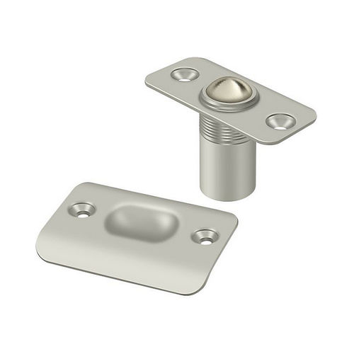 Deltana BC218RU15 Ball Catch, Round Corners, Brushed Nickel