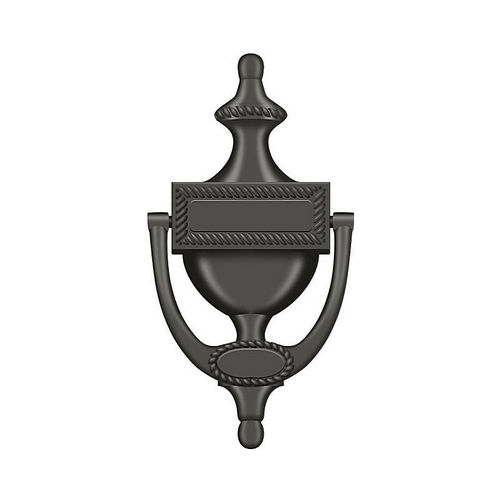 Deltana DKR75U10B Door Knocker, Victorian Rope, Oil Rubbed Bronze Finish