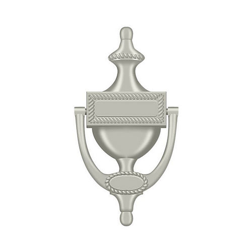 Deltana DKR75U15 Door Knocker, Victorian Rope, Satin Nickel Finish
