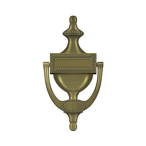 Deltana DKR75U5 Door Knocker, Victorian Rope, Antique Brass Finish