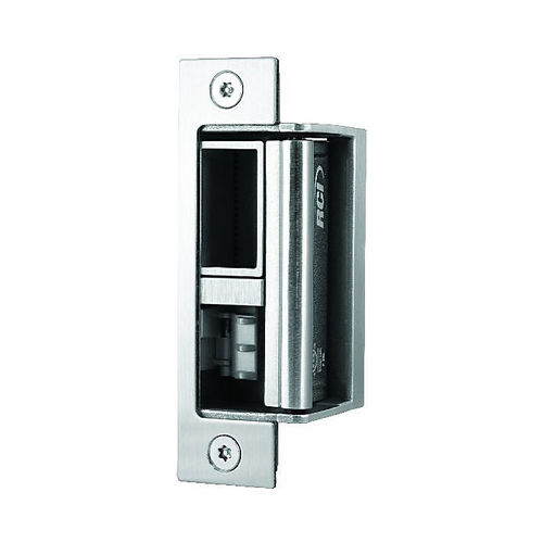 RCI F216432D1224VACDC Fire Rated Fail Secure All in One Electric Strike, Satin Stainless Steel Finish