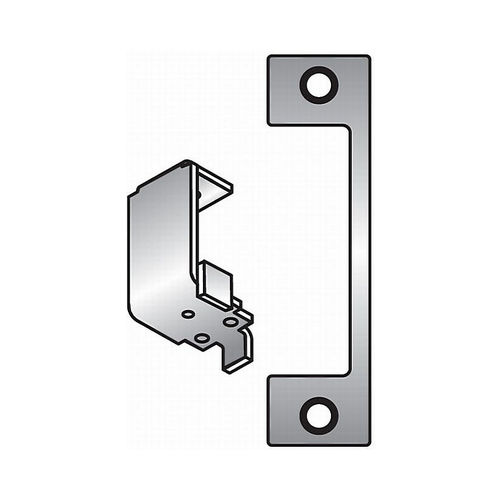 Assa Abloy Electronic Security Hardware - Hes HTD630 HTD Faceplate for 1006 Strike Satin Stainless Steel Finish