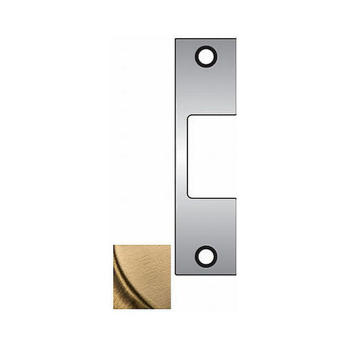 Assa Abloy Electronic Security Hardware - Hes J606 J Faceplate for 1006 Strike Satin Brass Finish