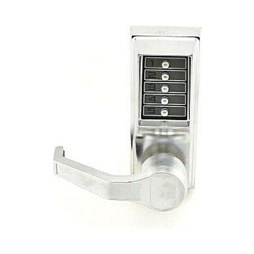 Simplex LLP101026D Left Hand Mechanical Pushbutton Exit Trim Lever Lock, Combination Only Satin Chrome Finish