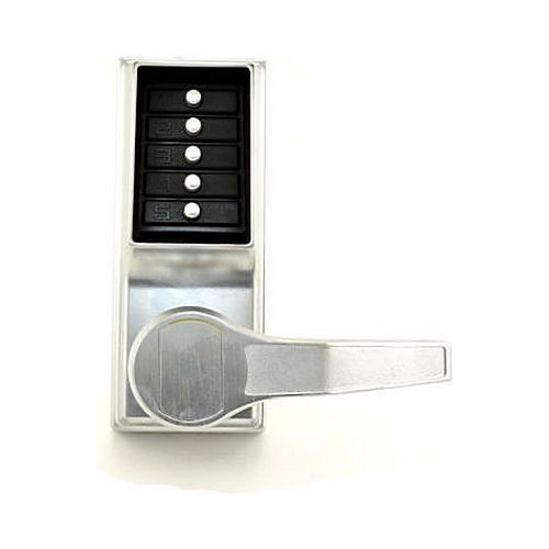 Simplex LRP101026D Right Hand Mechanical Pushbutton Exit Trim Lever Lock, Combination Only Satin Chrome Finish