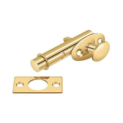 Deltana MB175CR003 Mortise Bolt, PVD Polished Brass