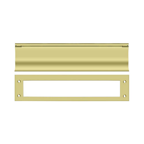 Deltana MS0030U3 Mail Slot, HD, Bright Brass Finish