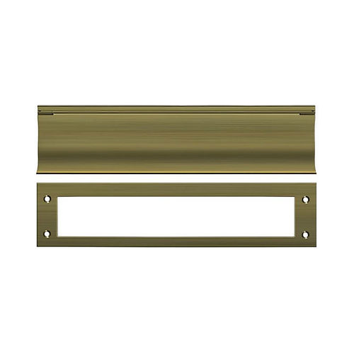 Deltana MS0030U5 Mail Slot, HD, Antique Brass Finish